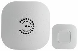 Звонок с кнопкой ЭРА BIONIC White электронный беспроводной (количество мелодий: 6)