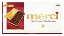 Шоколад Merci темный порционный c марципаном