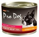 Корм для собак Pro Dog Для собак курица и утка консервы