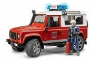 Пожарный автомобиль Bruder Внедорожник Land Rover Defender Station Wagon (02-596) 1:16 28 см