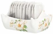 Подставка для чайных пакетиков Elan gallery Чайник, Белый шиповник (180985)