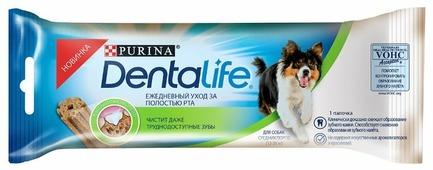 Лакомство для собак Dentalife Уход за полостью рта для средних пород