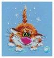 Алиса Набор для вышивания крестиком Первый снег 12 х 14 см (0-85)
