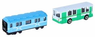 Набор машин ТЕХНОПАРК Городской транспорт (SB-15-06-BLС) 7.5 см