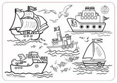 ЯиГрушка Коврик-раскраска Кораблики (маленький)