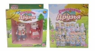 Фигурки ABtoys Счастливые друзья - Семейка животных PT-00301