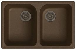 Врезная кухонная мойка GranFest Quarz GF-Z15 74х48см искусственный мрамор