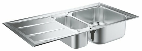 Врезная кухонная мойка Grohe K400+ 31569SD0 98.3х51.3см нержавеющая сталь