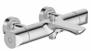 Термостатический двухрычажный смеситель для ванны с душем Jacob Delafon Gabin E78129-CP