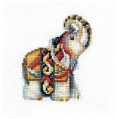 Сделай своими руками Набор для вышивания крестиком Статуэтки. Слон 12 х 12 см (С-32)