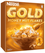 Готовый завтрак Nestle Gold Honey Nut Flakes хлопья, коробка
