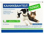 Euracon Pharma Каниквантел Плюс для собак и кошек (24 таблетки)