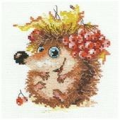Алиса Набор для вышивания крестиком Осенний ежонок 11 x 12 см (0-75)