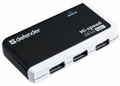 USB-концентратор Defender Quadro Infix (83504), разъемов: 4