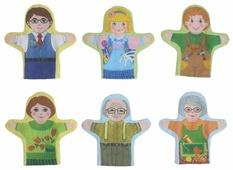 Наивный мир Набор кукол рукавичек Семья 6 шт (011.15)