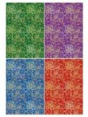Цветной картон с тиснением Ажур Апплика, A4, 4 л., 4 цв.