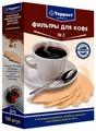 Одноразовые фильтры для капельной кофеварки Topperr Неотбеленные Размер 2