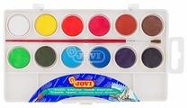 JOVI Акварельные краски 12 цветов с кисточкой (800/12)