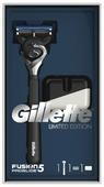 Подарочный набор Gillette: подставка, бритвенный станок Fusion5 ProGlide (ограниченная серия с черной ручкой)