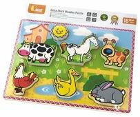 Рамка-вкладыш Viga Домашние животные (56438), 7 дет.