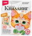 LORI Набор для квиллинга Рыжий котенок Квл-026