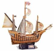 Пазл CubicFun Корабль Санта Мария (T4008h), 113 дет.