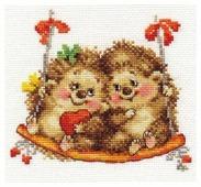 Алиса Набор для вышивания крестиком На качелях 14 х 13 см (0-115)