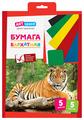 Цветная бумага бархатная, в ассортименте ArtSpace, A4, 5 л., 5 цв.