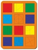 Рамка-вкладыш Woodland Сложи квадрат 12 квадратов уровень 2 (064402), 53 дет.