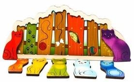 Рамка-вкладыш Нескучные игры Разноцветные котята (7932), 7 дет.