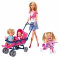 Simba Набор кукол Steffi Love Штеффи с детьми, 29 см, 5736350