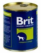 Корм для собак Brit говядина, сердце 850г