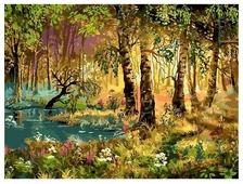 "Белоснежка Картина по номерам ""Утро в лесу"" 30х40 см (066-AS)"