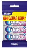 Жевательная резинка Orbit Bubblemint с микрогранулами, без сахара 3 шт.