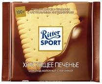 "Шоколад Ritter Sport ""Хрустящее печенье"" молочный"