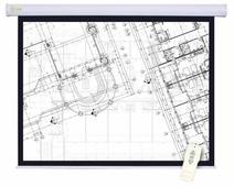 Рулонный матовый белый экран cactus Motoscreen CS-PSM-180x180
