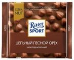 Шоколад Ritter Sport Extra Nut молочный цельный лесной орех