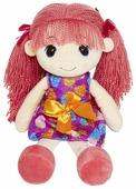 Мягкая игрушка Maxitoys Кукла Стильняшка с розовыми волосами 40 см