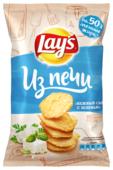 Lay's Чипсы Lay s Из печи картофельные Нежный сыр с зеленью рифленые