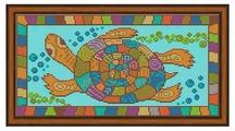 Galla Collection Набор для вышивания бисером Черепаха 35 х 18 см (А402)