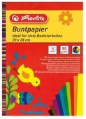 Цветная бумага поделочная Herlitz, 20x28 см, 10 л., 10 цв.