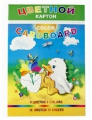 Цветной картон Утенок Лилия Холдинг, A4, 16 л., 8 цв.