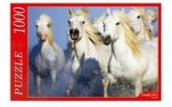 Пазл Рыжий кот Белые лошади (КБ1000-6930), 1000 дет.