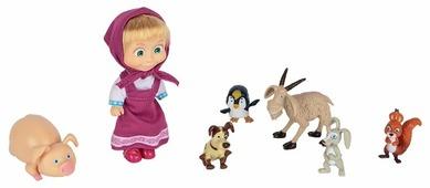 Набор Simba Маша и Медведь Маша с друзьями-животными, 12 см, 9301020