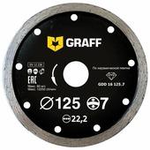 Диск алмазный отрезной 125x2x22.23 GRAFF GDD 16 125.7