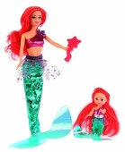 Кукла Карапуз София русалка с маленькой русалкой, 29 см, 66341-S-BB