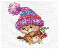 Алиса Набор для вышивания крестиком Воробушек 11 х 12 см (0-101)