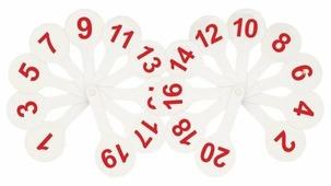 Набор цифр СТАММ Касса (веер) цифры от 1 до 20
