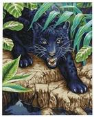 """Мосфа Картина по номерам """"Черный леопард"""" 40х50 см (7С-0191)"""