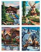 """Schipper Картина по номерам """"Времена года"""" 18х24 см (9340552), 4 шт."""